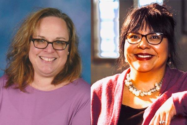Head shots of Sarah Hartman and Rachel Torres