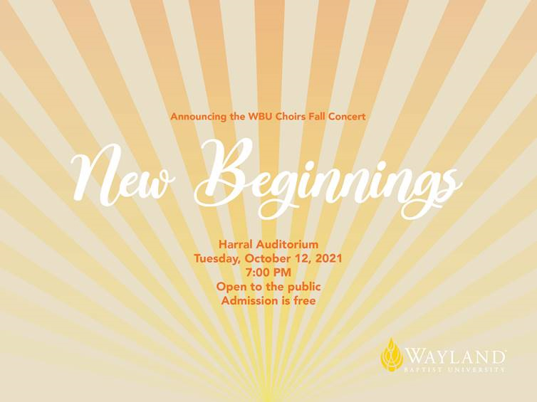 graphic of sunburst with the words New Beginnings in a script font