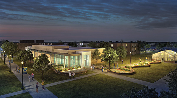 artist rendering of the new science building