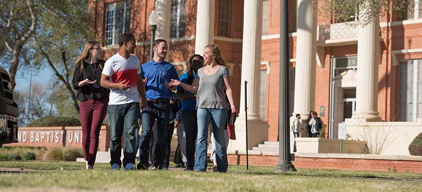 Wayland Students outside Gates Hall
