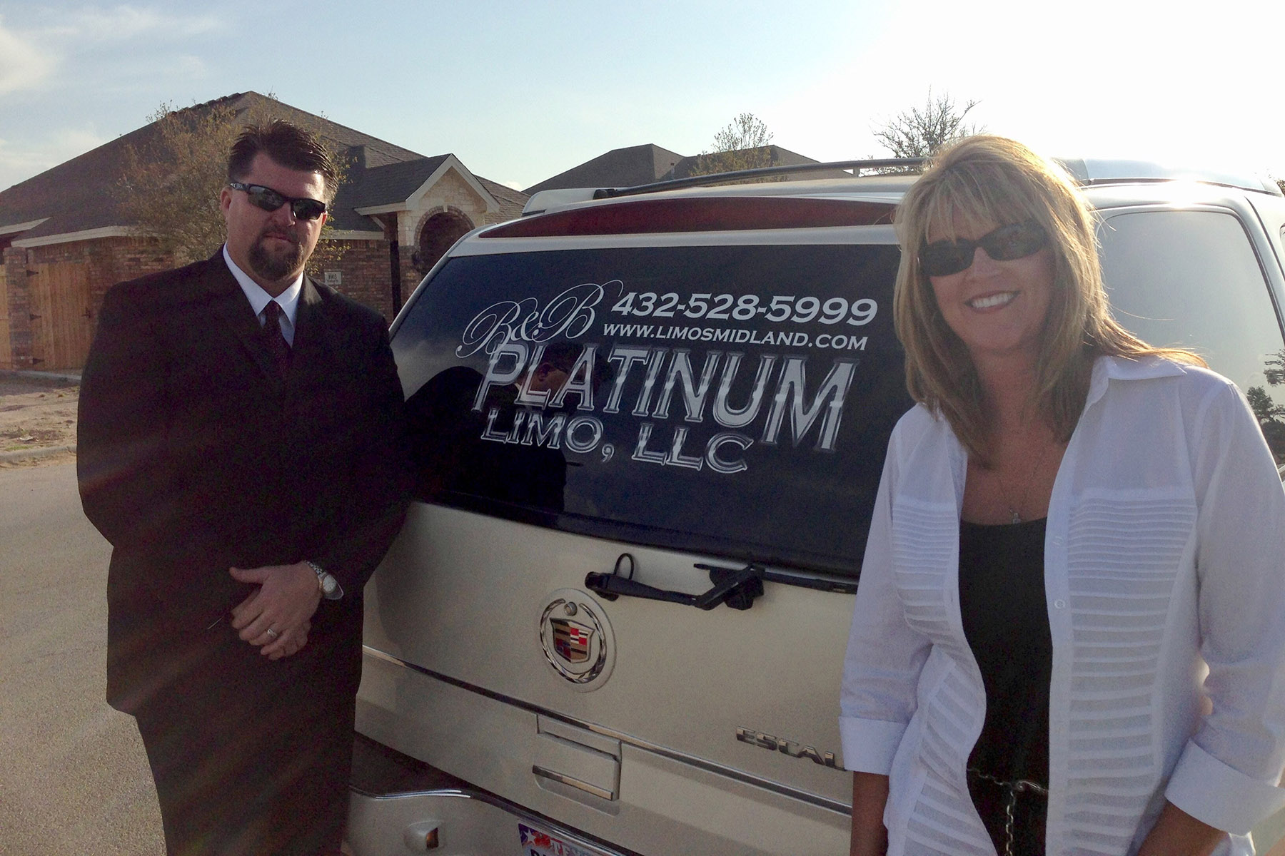 Bryan and Becky Baty with first limo