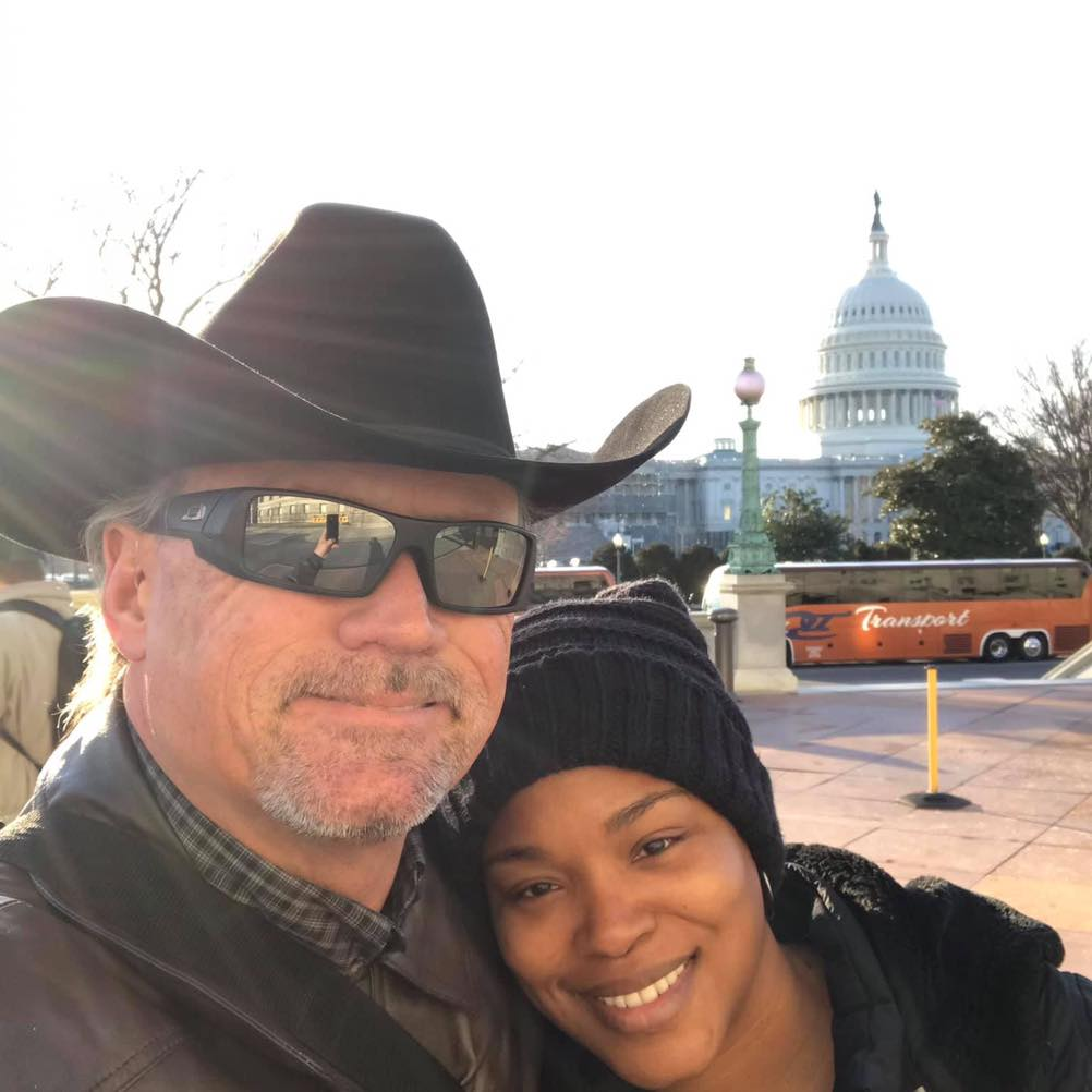 Glen and Mieka Pugh visit the capitol