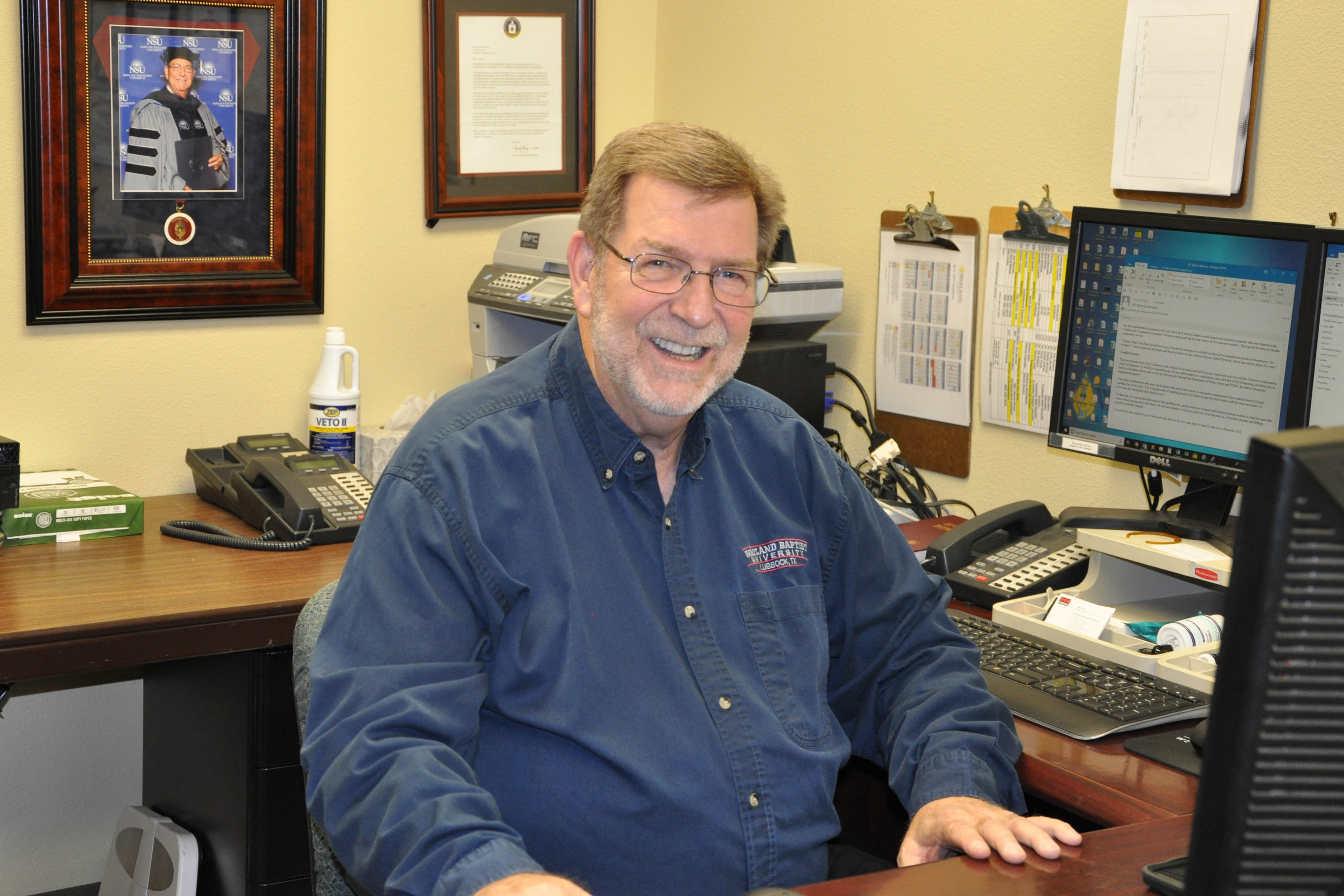 Dr. Joe Marnell in his Lubbock office