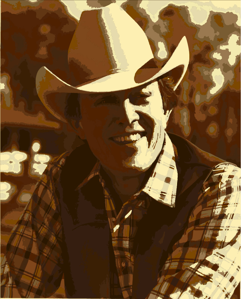 Jimmy Dean in a cowboy hat, smiling