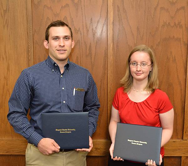 Cody Lindber and Emily Brown are graduating with honors.