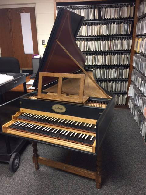 Wayland's New Harpsichord