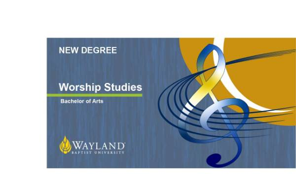 graphic for new worship studies degree