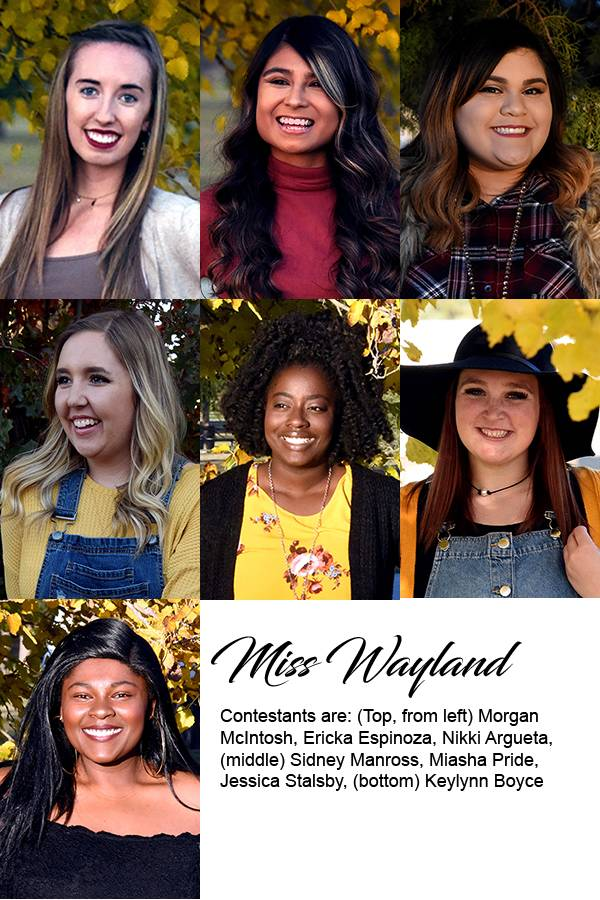 Group pictures of Miss Wayland contestants