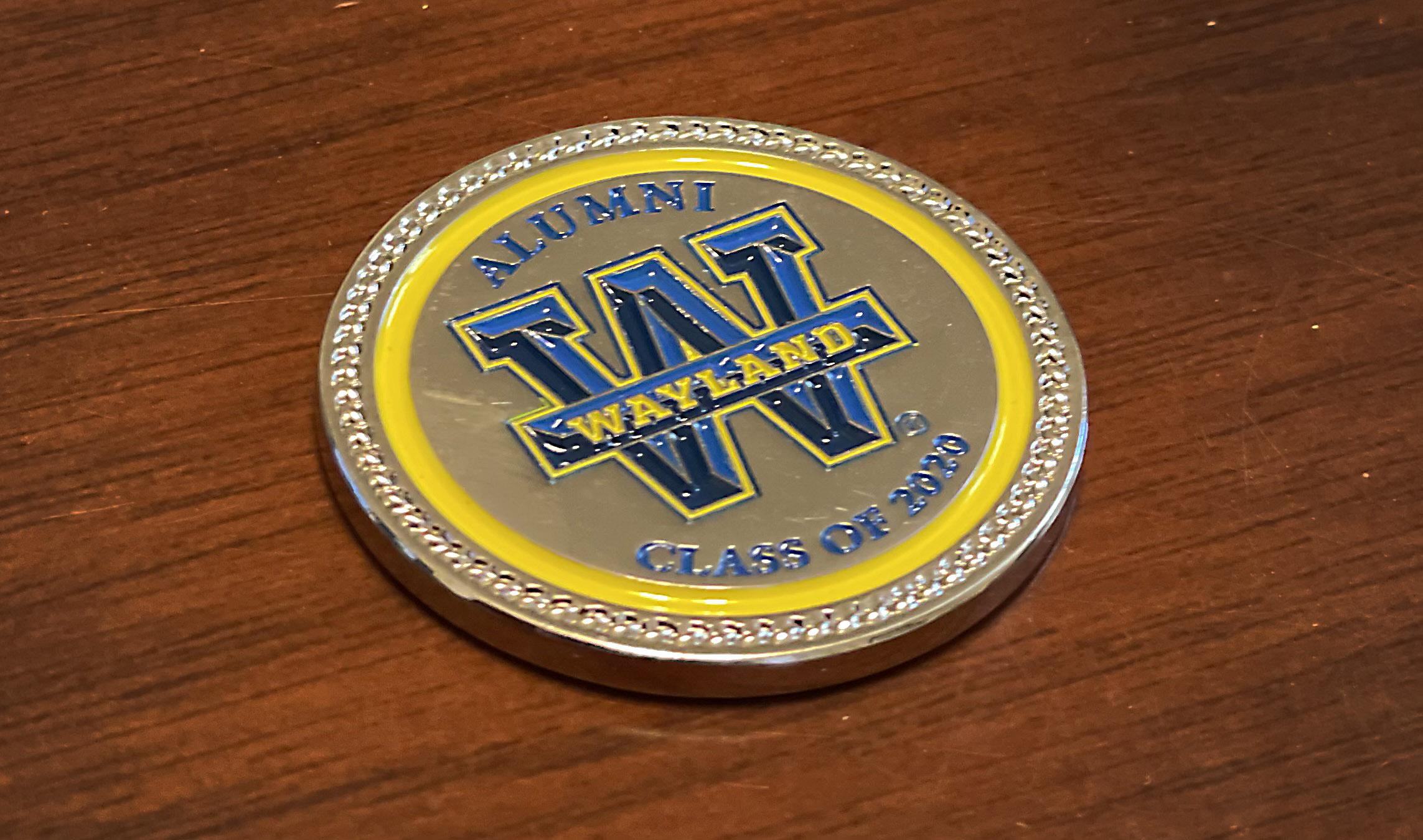Wayland's First Challenge Coin